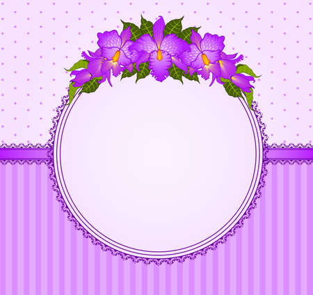 Background with beautiful orchids photo