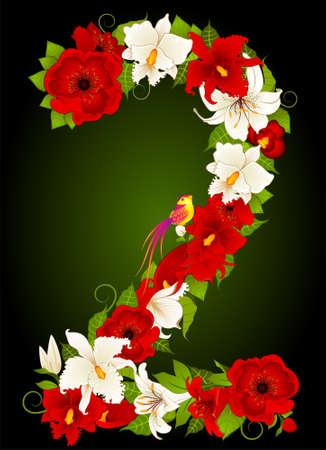 illustration of floral two symbol Stock Illustration - 9368737