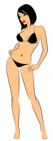 beautiful breasts: silhouette of beautiful sexy woman