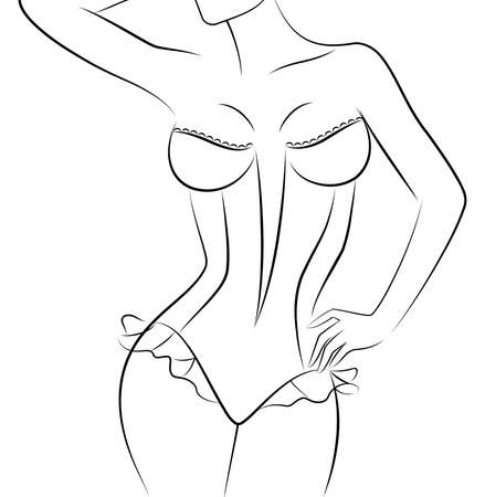 silhouette of beautiful sexy woman Stock Photo - 9385114