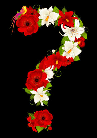 question-mark from flowers Stock Photo - 9385133