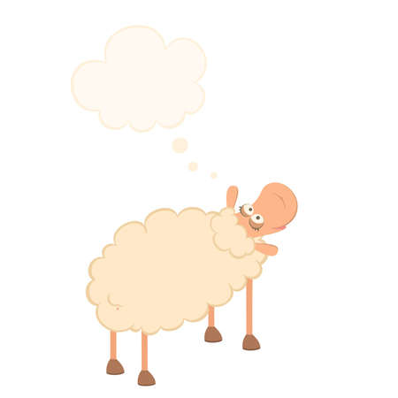 cartoon sheep Stock Vector - 9877165