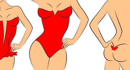 naughty woman: Silhouette of beautiful sexy woman