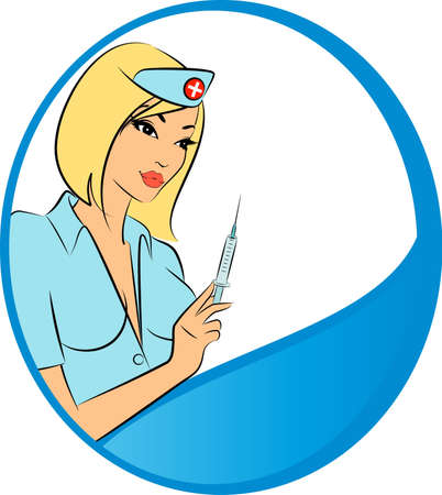 Nurse ready to make an injection photo
