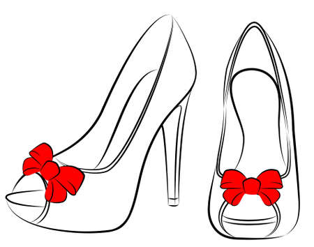 high heels woman:  beautiful pair of shoes with high heel
