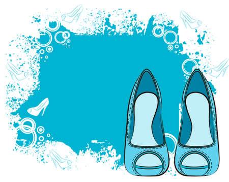 beautiful shoe with high heel photo
