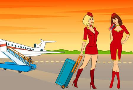 Beautiful stewardess photo