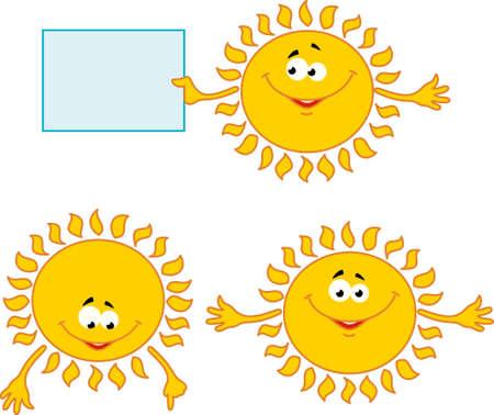 mimic: set of sun mimic miens Stock Photo