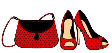 designer bag: Caricature woman
