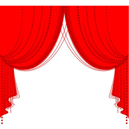 theater curtain: Vector red curtain