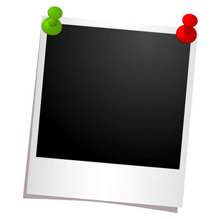 photo frame with buttons Vector