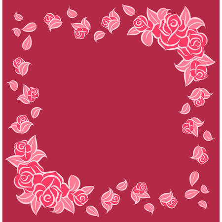 Background with beautiful roses. Vector Vector