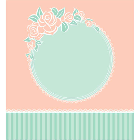 flower age: Background with beautiful flowers and lace ornaments Illustration