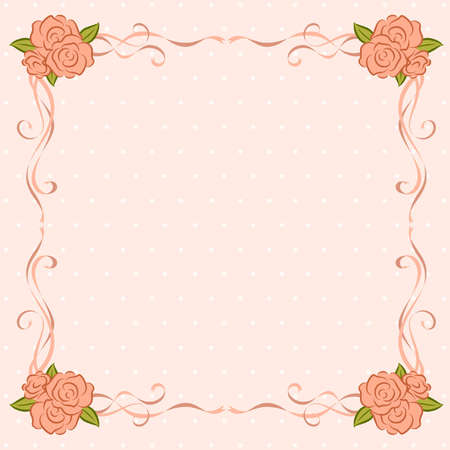 Background with beautiful roses. Vector Stock Vector - 9872060