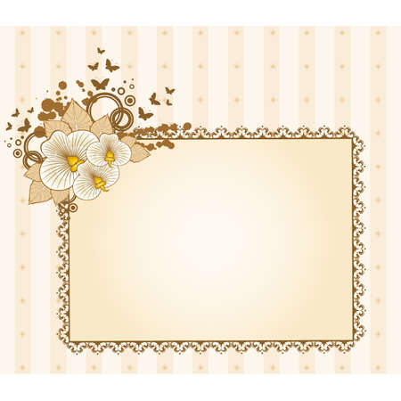 Hintergrund mit schönen Blumen und Lace Ornamente