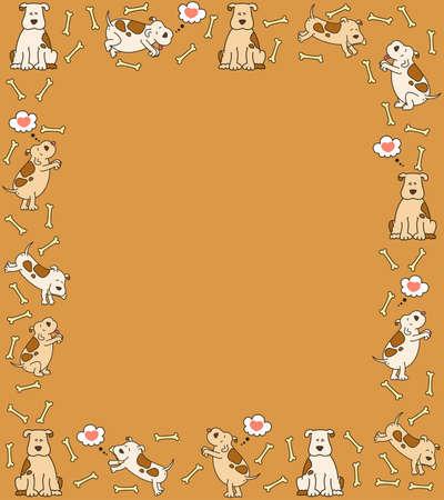illustration of cartoon dog illustration