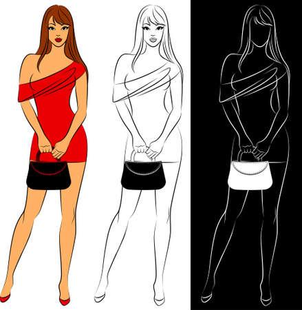 Beautiful fashion shopping girls photo