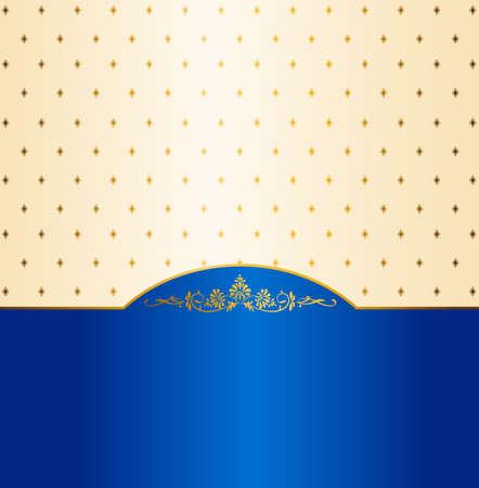 royal blue: Luxury vintage background.