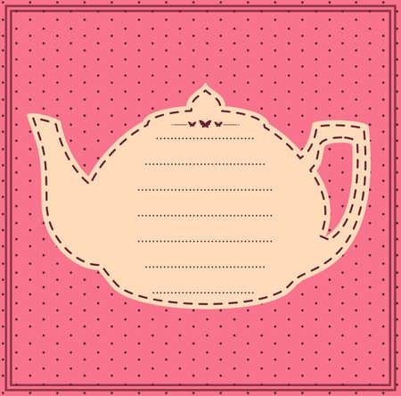 Vintage sweet tea pot.