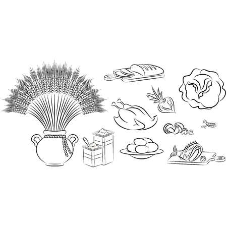 Healthy meal ingredients. Stock Vector - 10553949