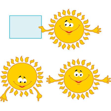 mimic: set of sun mimic miens Illustration