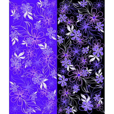 voilet: Abstract background with beautiful flowers Illustration