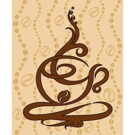 illustration with abstract coffee cup Vector