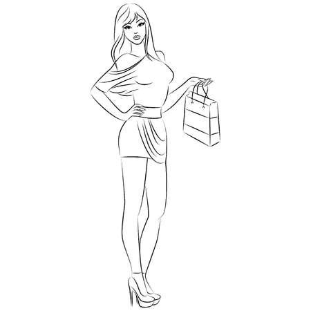Schöne Mode shopping Girl.