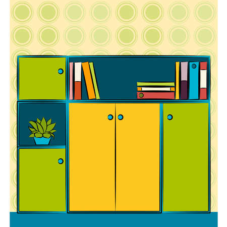 Beautiful business closet in office. Vector Stock Vector - 10545237