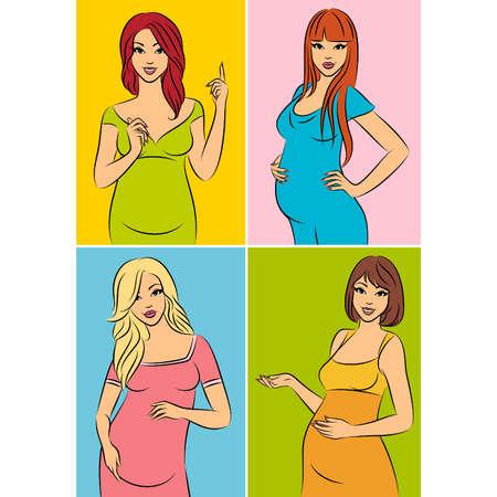 Beautiful pregnant woman.