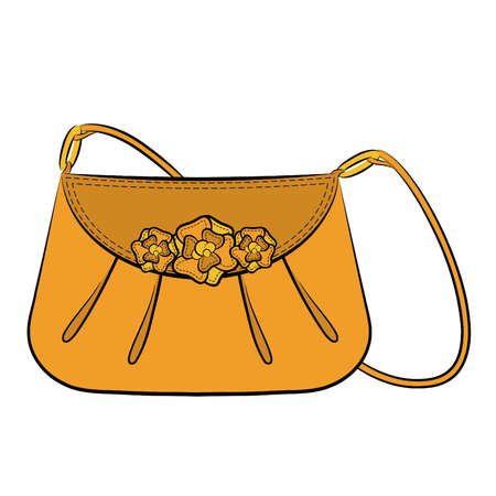 designer bag: Cartoon womans bag.