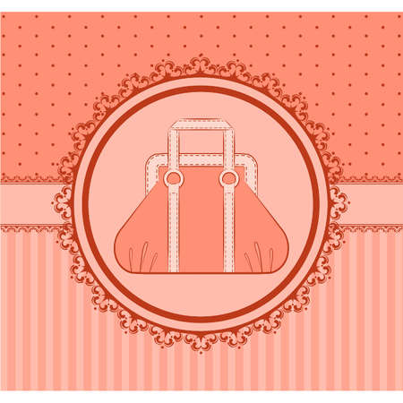 Cartoon woman's bag.  Stock Vector - 10608675