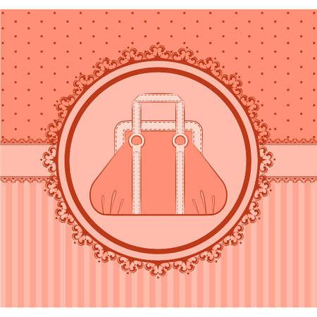 designer bag: Dibujo animado de bolsa de la mujer.