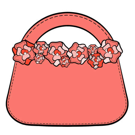 designer bag: Cartoon woman Illustration