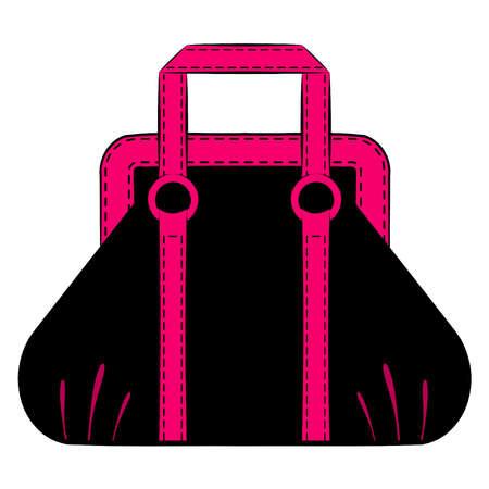 designer bag: Cartoon mujer