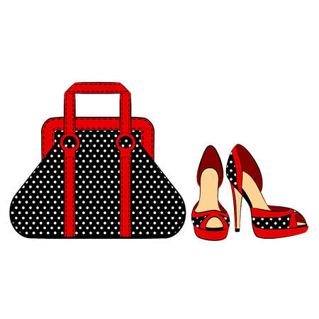 bag cartoon: Cartoon woman Illustration