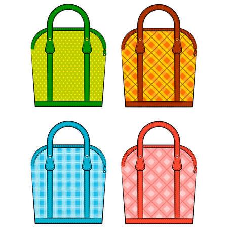 hand bag: De dibujos animados bolsa de mujer Vectores