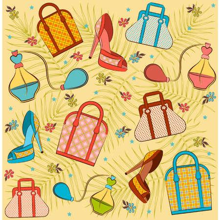 designer bag: Caricatura mujer