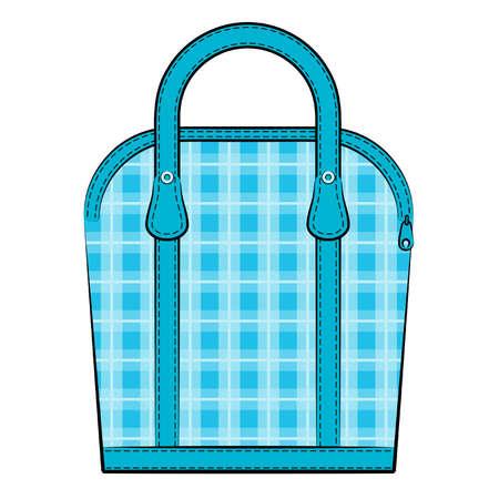 designer bag: Cartoon vintage woman