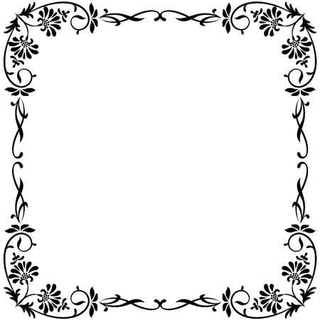 Jahrgang Hintergrund mit Blumen. Vektorgrafik