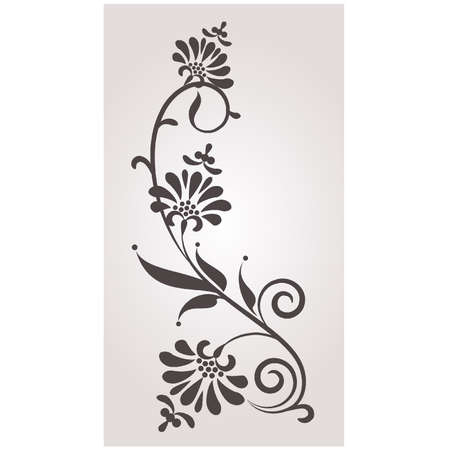 floral scroll: Vintage background with flowers.