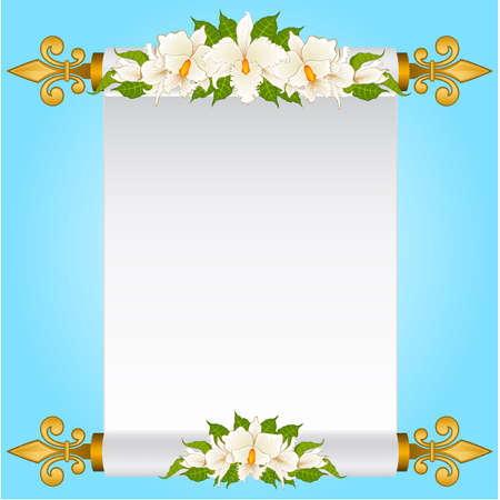 Vintage background with flowers.