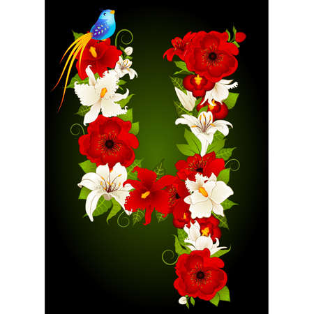 floral four symbol Vector