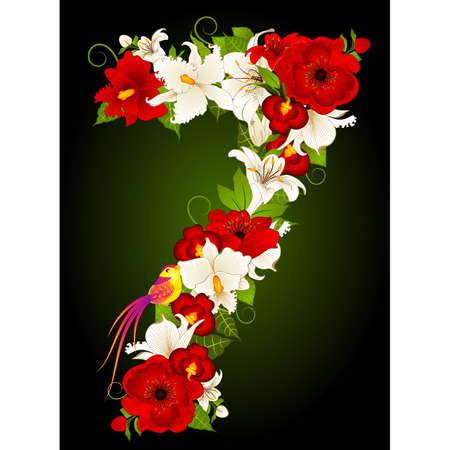 floral seven symbol Vector