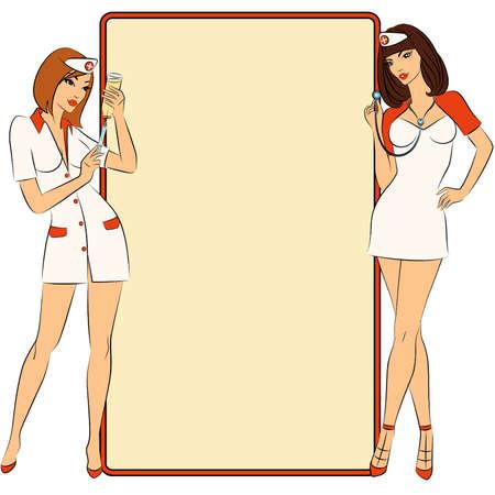 nurse injection: Gli infermieri pronti a fare una iniezione