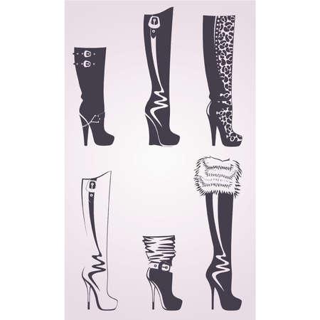 pump shoe: Silhouette of fashion footwear