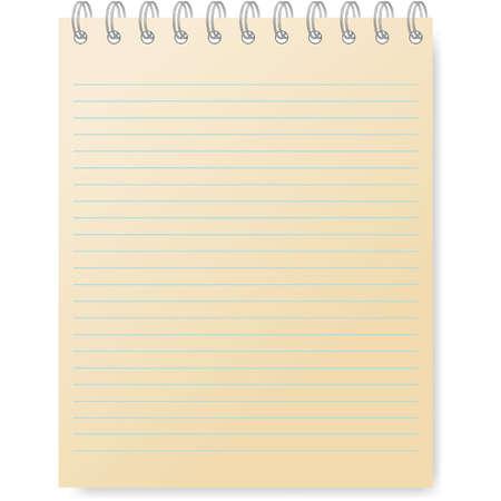 Páginas de papel de cuaderno gobernó - curl página. Vector
