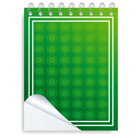 looseleaf: Pages of ruled notebook paper - page curl. Vector Illustration
