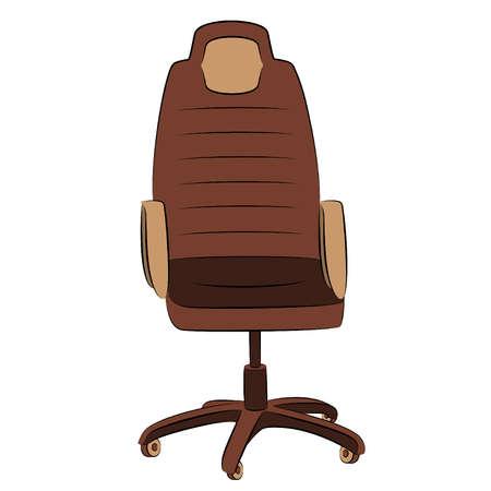leather chair: La sedia da ufficio in similpelle