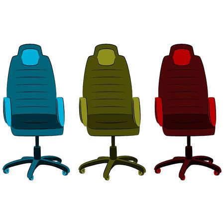 imitation leather: La sedia da ufficio in similpelle